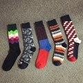 Calcetines de los hombres Chao Feliz estilo calcetines calcetines sub gradiente de colores puros del algodón de los hombres en calcetines