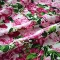 Reactivo teñido rosa niños tela de algodón para vestido tissus tecido telas shabby chic tissu africain bazin riche getzner tela