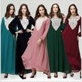 2017 Nueva primavera Verano Mujeres de Moda Falda de Gasa de Señora Girl Altura Del Tobillo Pantalones 5 color Musulmán del Abaya del vestido ocasional