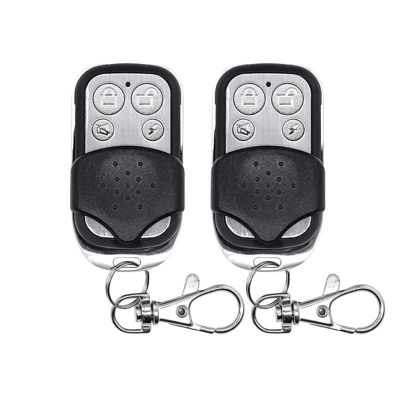 Wireless Remote Control Controller Keyfobs Keychain 433MHz  PT2262 4.7M  for Alarm System 2pcs/lot kerui kr rc531 keychain remote control for wireless alarm system