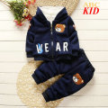 Winter Fleece tracksuits children's clothing set kids Cartoon Mouse jackets hoodie coat + pants suit baby boy warm outfit KD179