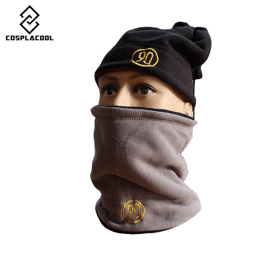 両側スカーフビーニーニット男性の冬の帽子skulliesボンネット冬帽子用男性女性ビーニー毛皮暖かいだぶだぶウールニット帽子