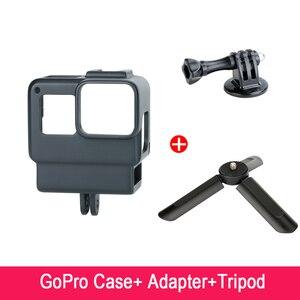 Image 5 - ללכת פרו Vlogging דיור מקרה מסגרת כיסוי עם קר נעל הר עבור GoPro גיבור 7 6 5 כדי Rode Videomico boya BY MM1 מיקרופון