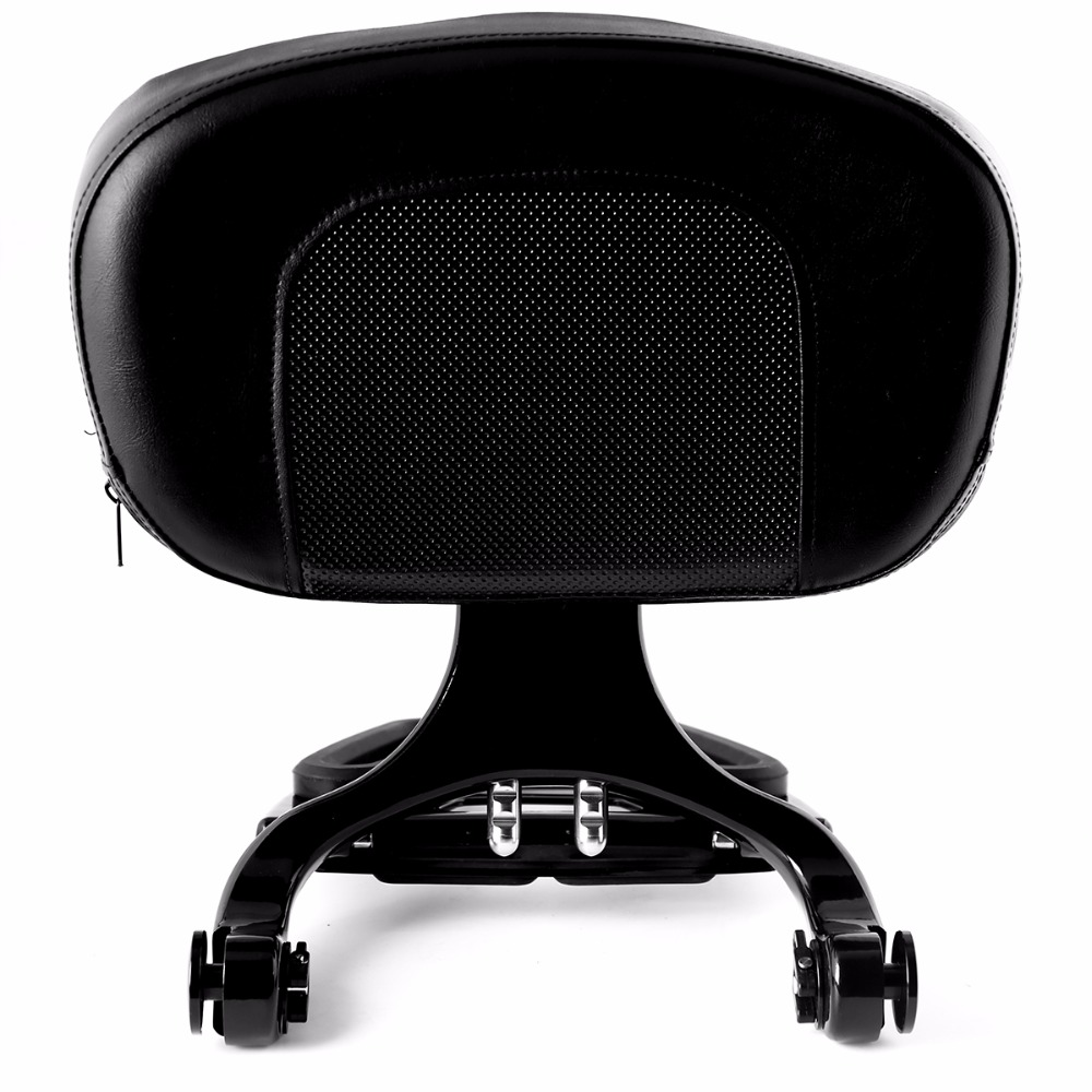 Gloss Black Fixed High Mount&Driver Passenger Backrest For Harley Touring Street Glide Road King FLHX FLHR FLTR 1997 2008 Models-in Seats & Benches from Automobiles & Motorcycles    2