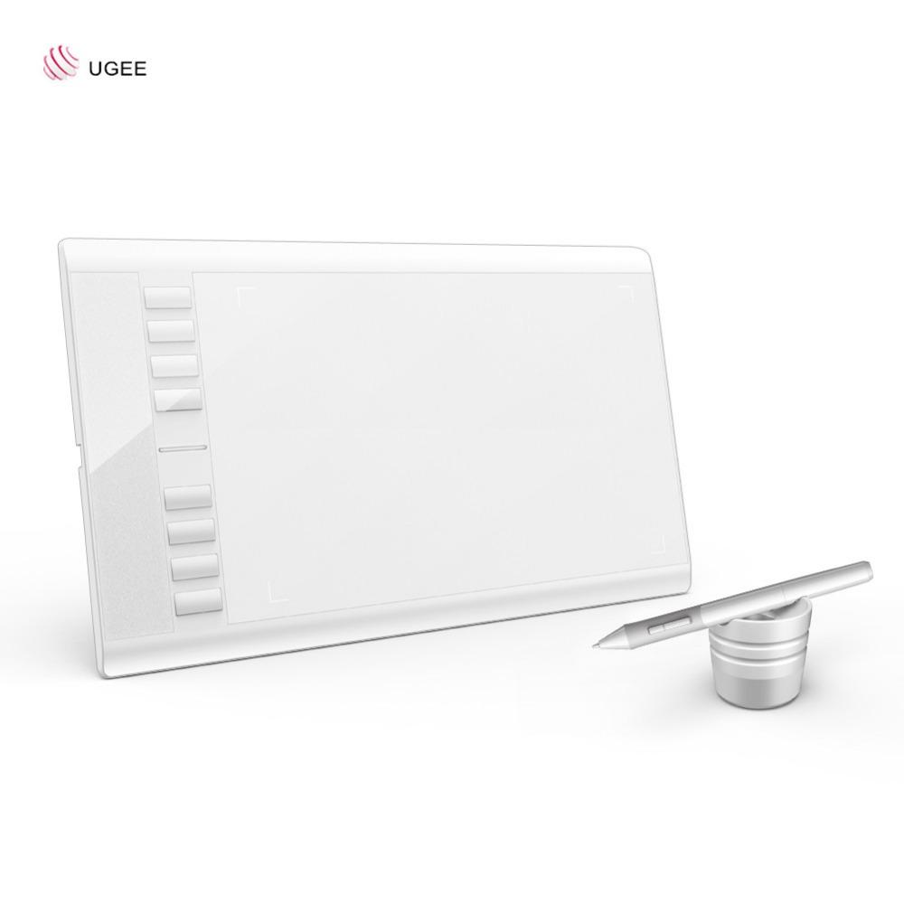 Prix pour Ugee m708 numérique tablette graphique dessin tablet 10x6''a610 peinture pad 2048 niveau graphique tablet usb numérique stylos avec gant