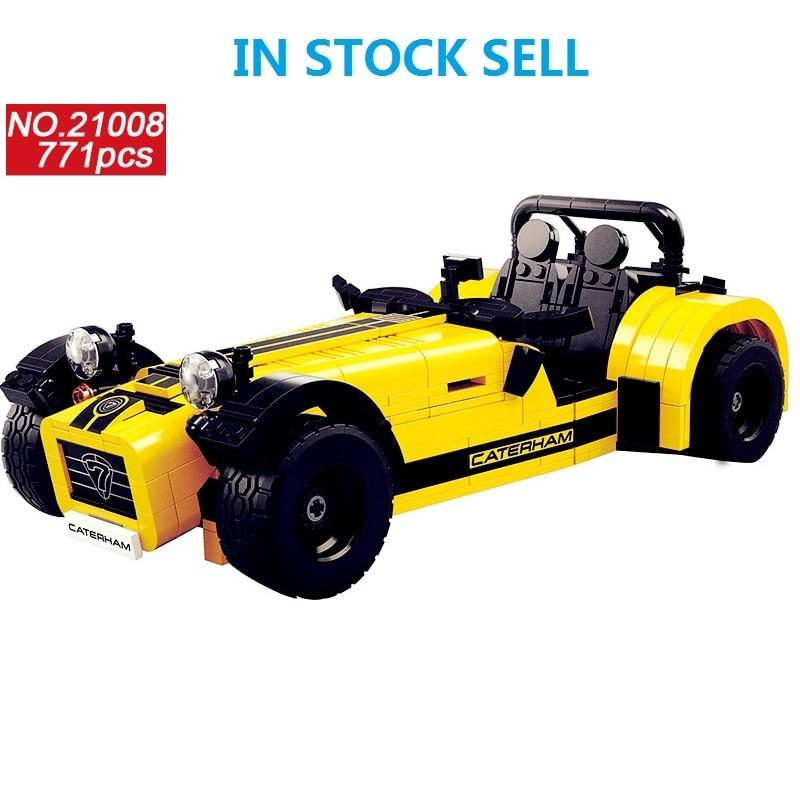 LEPIN blocs Technic créateur 771 pièces la Caterham Classic 620R modèle de voiture de course Compatible 21307 briques de construction enfants jouets 21008