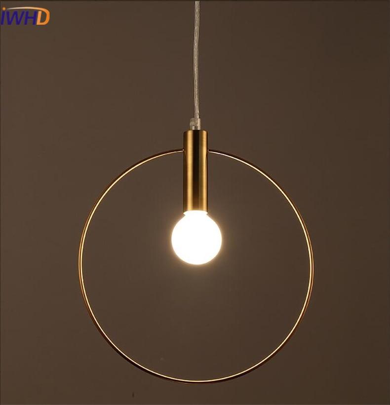 Modren LED obesek lučka Osebnost Zaokrožena železna razsvetljava - Notranja razsvetljava - Fotografija 2