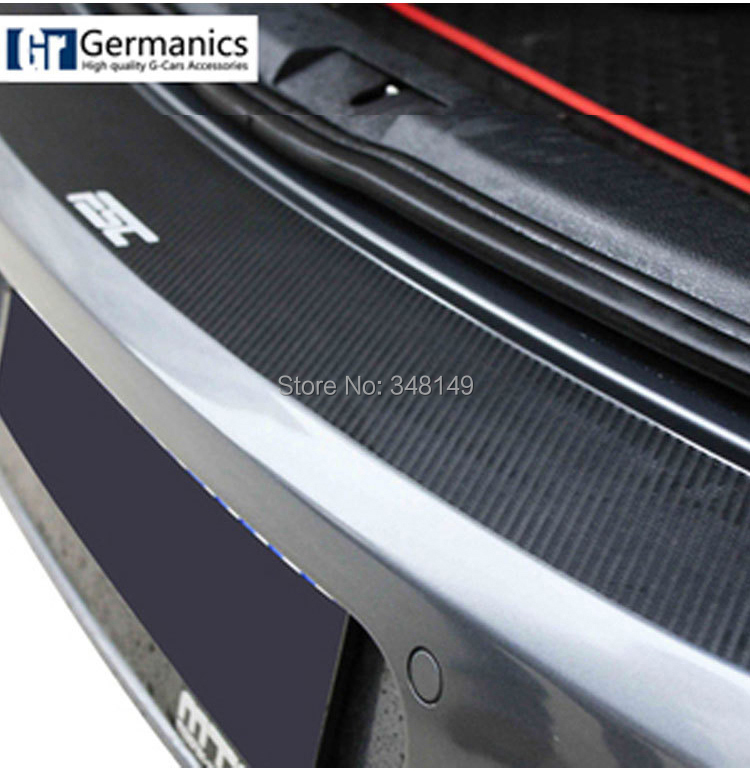 Aliauto Car styling Carbon fiber sticker and decal scratch protection rear bumper car acessories For volkswagen golf 6 GTI