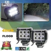 CO LIGHT 2PCS LED CAR LIGHTS 18W LED LIGHT BAR FLOOD BEAM CREE CHIP 4INCH DC