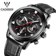Cadisen 2016 Mens Relojes de Primeras Marcas de Lujo Calendario 3Atm Reloj Del Deporte Para Los Hombres Reloj de Cuero Quqrtz Reloj Masculino Horloges Mannen
