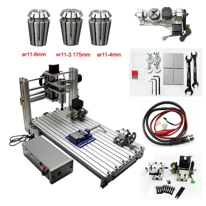 5 ASSI CNC 2060 macchina Per Incidere di CNC Router 4 assi mini carving fresatura incisore