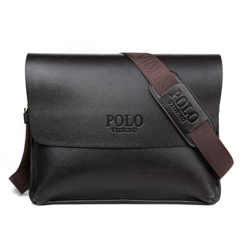 POLO Famous Brand Leather Men Bag Casual Business Leather Mens Messenger Bag Vintage Men's Crossbody Bag Bolsas Male Nice
