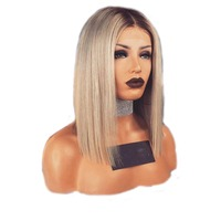 Full Blonde Color Braided Lace Front Wigs Heat Resistant Synthetic Micro Braiding Hair With Free Shipping