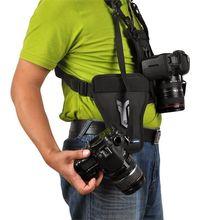 Micnova Double Double Épaule Quick Release Cou Ceinture Sling Strap Gilet Pour Canon Nikon Sony Pentax Panasonic DSLR Caméras