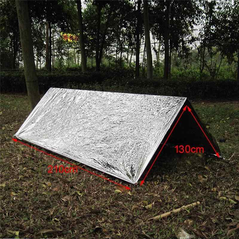Portable Camping Mat Waterproof Emergency Folding Survival First Aid Camping Hiking Rescue Picnic Blanket Cover Yoga pad