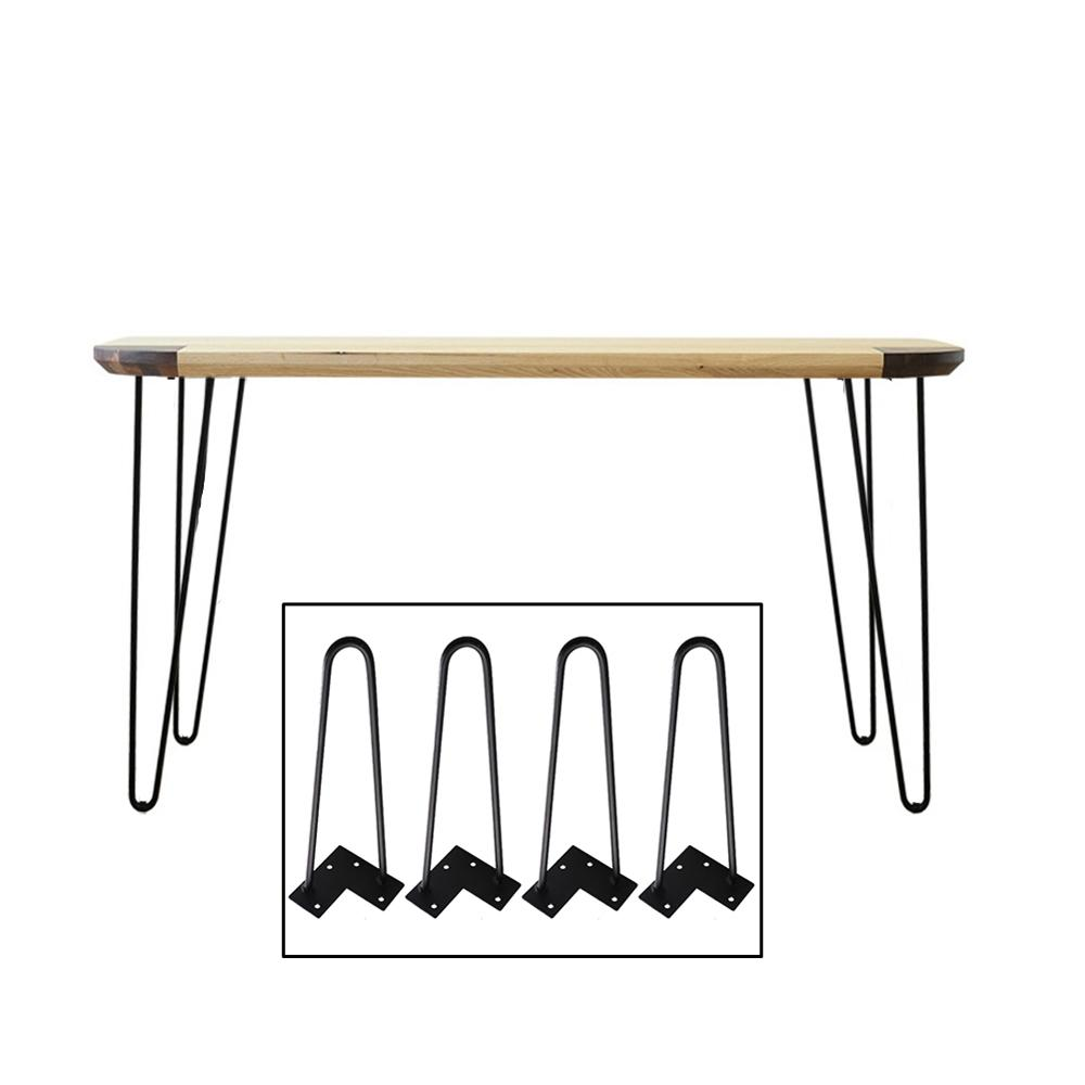 4 pieces style europeen et americain noir fer table jambe support table basse bureau meubles jambes