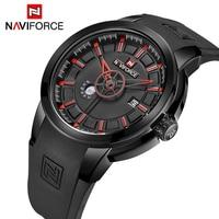NAVIFORCE Men S Watches Luxury Brand Sport Military Watch Men Quartz Analog Rubber Strap Waterproof Mens