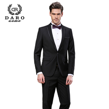 DARO High Quality Fashion Men Suit Brand Men's Blazer Business Slim Clothing Suit And Pants Top Selling DARO8618-1#
