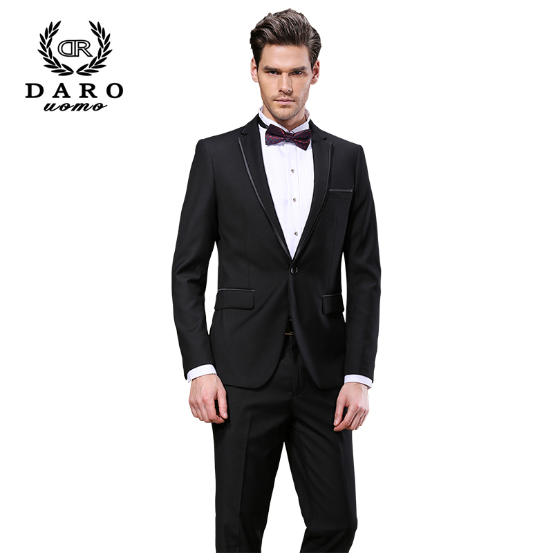 DAROuomo High Quality Fashion Men Suit Brand Men s Blazer Business Slim Clothing Suit And Pants