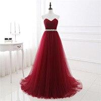 Koyu Kırmızı Abiye Net Plise Custom Made Dantel-up Geri Balo Parti Kıyafeti Ile Mahkemesi Tren