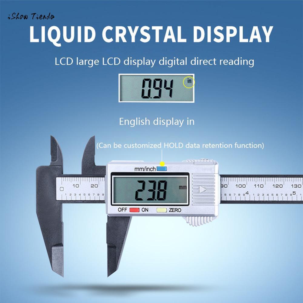 150MM//6inch LCD Digital Electronic Vernier Caliper Gauge Micrometer Ruler Tool