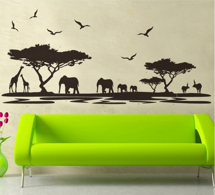 Aliexpress.com : Buy 160*75cm Black Africa Grasslands Wall