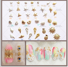 10000PCS/Lot 3D Starfish Conch Shell Pineappler Aolly Metal Nail Stud Decoration 3MM/5MM