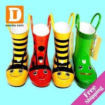 Cartoon Kinder Regen Stiefel Neue 2019 Kinder Gummi Stiefel Biene Frosch Beatles Mädchen Schuhe Flache Rain Bota Baby Kinder Schuhe