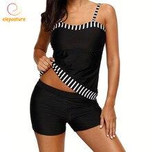 Tankini المايوه النساء حجم كبير ملابس السباحة عالية الخصر ملابس السباحة Vintage ريترو لباس سباحة بحر لباس سباحة للنساء 2XL