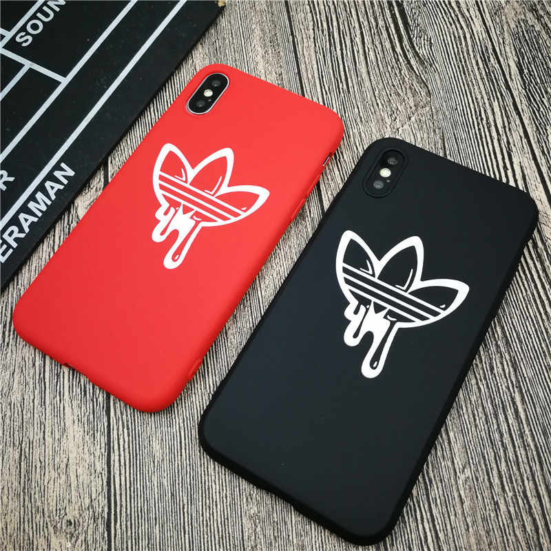 Street fashion brand soft case for iphone X XS MAX XR 8 7 6 6S plus matte  silicone phone cover Sports coque Couple fundas capa