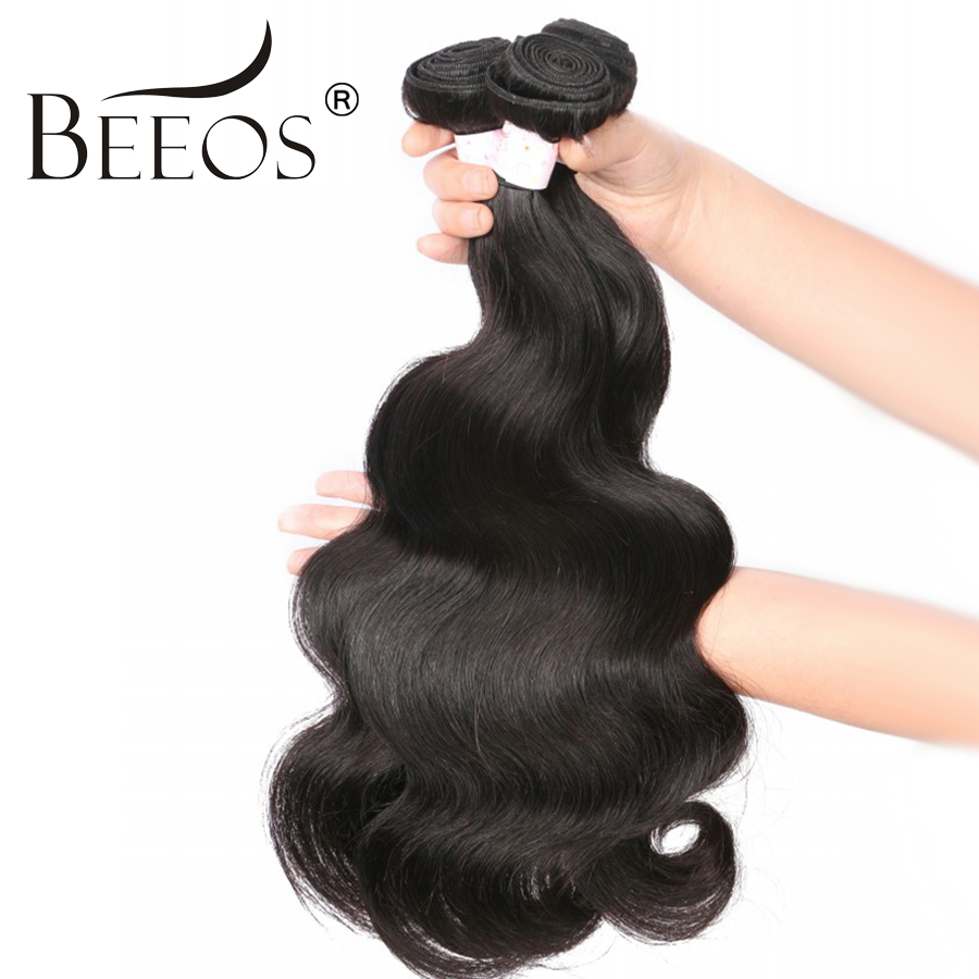 Beeos Free Shipping Brazilian Body Wave Hair Extension Remy Hair Natural Color 100% Human Hair Bundles 8-30inch ...