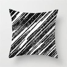 Fuwatacchi Simple Geometric Print Cushion Cover Stripe Wove Hart Printed Pillow Chair Sofa Home Decorative Case