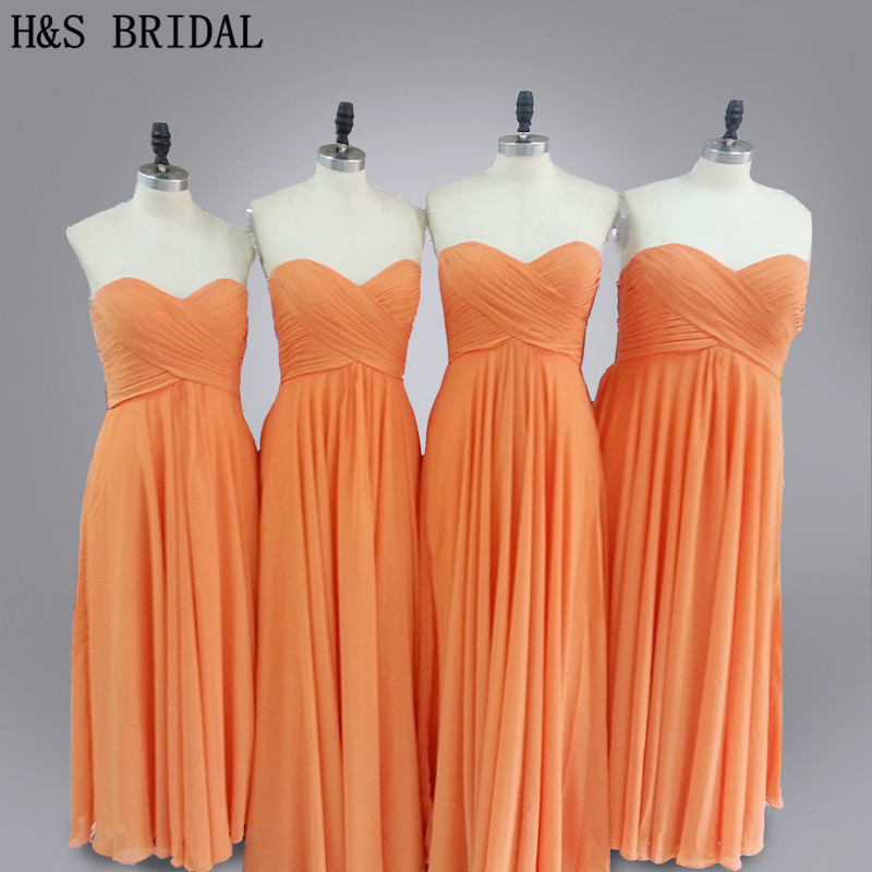Real Model Simple cheap plus size long chiffon   bridesmaid     dress