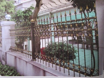 72 Inch High RPF102 Residential Wrought Iron Fence dcorative wrought iron fence Wrought Iron Fence Installation Cost Estimator
