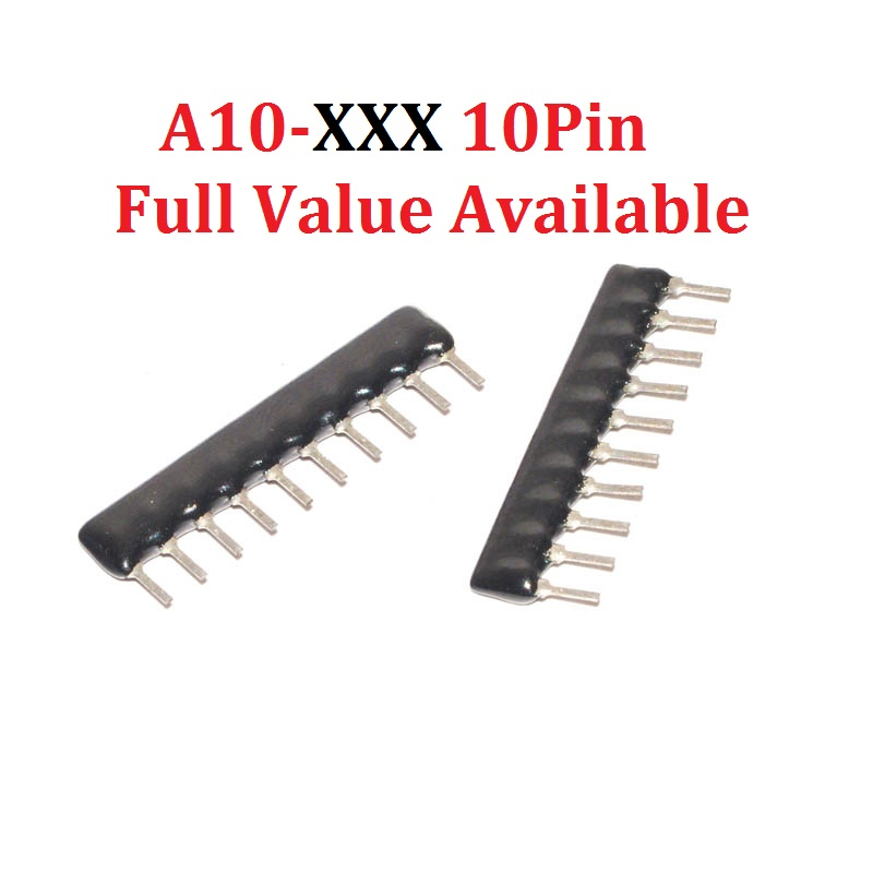 20 шт., 10-контактные сетевые резисторы, A10-102/103/104/222/512/473/G/J 1K 10K 472 K 100K 2,2 K 47K 5,1 K