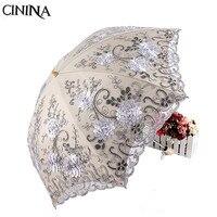 New Sun Umbrella Lace Parasol Umbrellas Rain Princess Umbrella Durability Free Shipping