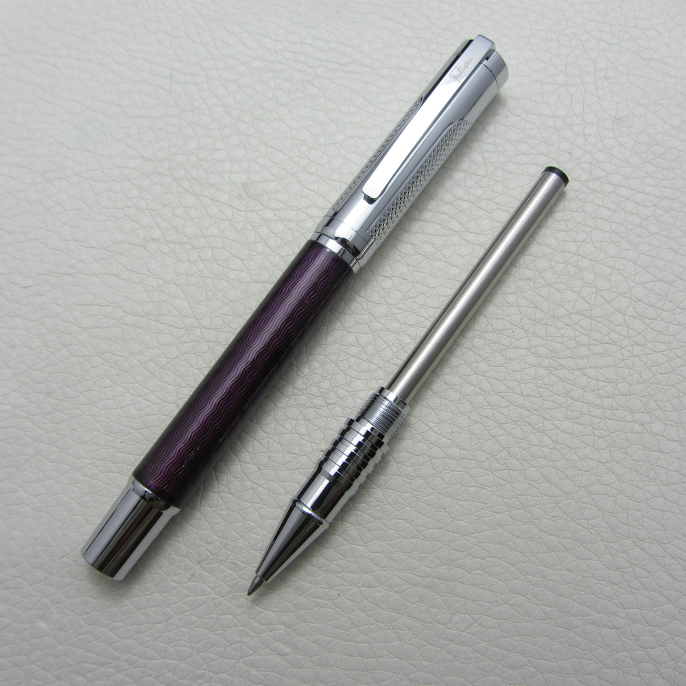 Fuliwen Roller Ball Pen Purple ripple  Heavy Pen F9021 roller ball pen jinhao 189 noblest ancient silver medium 0 7mm nib great wall pen