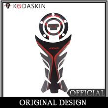 KODASKIN Gas Fuel Tank Cap Pad Protection Sticker for YAMAHA YZF R6 Red