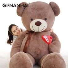 1pc 75/90cm huge size cute ribbon heart bear plush toy stuffed soft kawaii smile Teddy bear plush pillow for kids birthday gift
