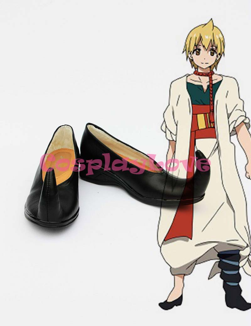Magi Alibaba Shalja Cosplay Shoes Boots Custom Made Black Color For Halloween Christmas Festival CosplayLove