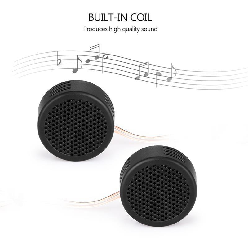2pcs Universal Super Power <font><b>Audio</b></font> Auto Sound High Frequency <font><b>Car</b></font> Mini Dome Tweeter Loudspeaker Loud <font><b>Speaker</b></font> image