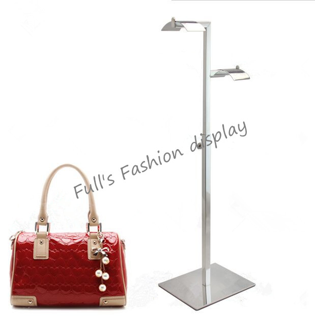 2pcs Fashion High Quality Mirror Stainless Steel Adjule Handbag Display Holder Bag Stand Racks Free Shipping In Coat From