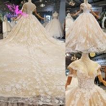 AIJINGYU בתוספת גודל חתונה שמלות קוריאני שמלת תחרה טול Widding 2 piece הנחה כלה יפה חתונה למכירה