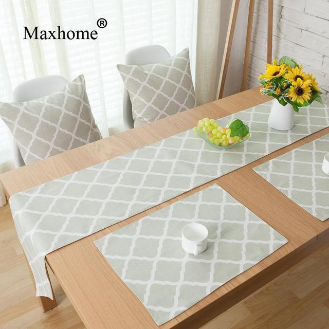 Nordic Home Hotel Geometry Top Cotton Linen Fashion Rushed Woven Table  Runner Placemats Decorative Pillow Caminho