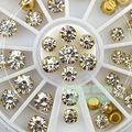 Alta Qualidade 1 Rodas 44 PCS Mosaico Diamante Liga Apartamento de Volta Nail Art Strass Decoração Telefone DIY Frete Grátis