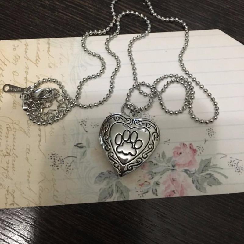 Cat Memory Locket Necklace Silver/Gold Color Pendant