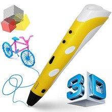 Penobon Магия 3d-принтер Ручка С 1.75 мм НОАК Накаливания 3D Пера caneta 3D Перо Для Рисования Творческий Подарок Для Детей Живопись Стиль 3D ручка