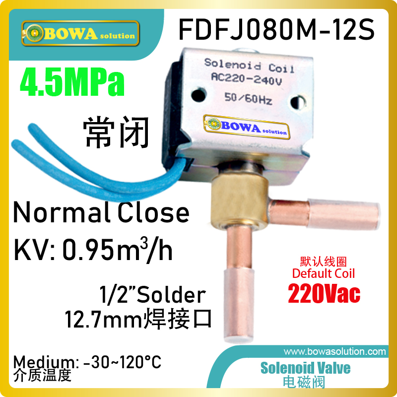High performance & low cost compact solenoid valve is great choice for water chillers of laser equipments or household heat pump