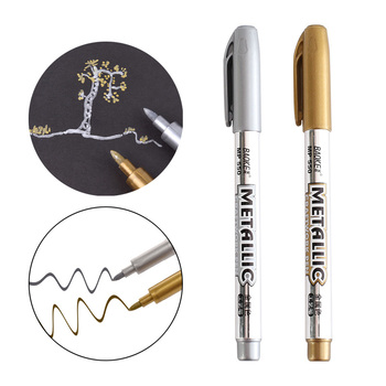 1 Pieces Hot Sale DIY Metal Waterproof Permanent Paint Marker Pens Manga Drawing Markers School Office Supply Stationery Gift - discount item  5% OFF Pens, Pencils & Writing Supplies
