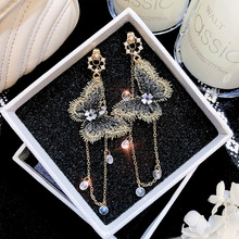 New Arrival Zinc Alloy Trendy Women Butterfly Dangle Temperament Earrings Womens Long Wholesale  Accessorie